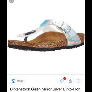 Birkenstock Gizeh Mirror Silver
